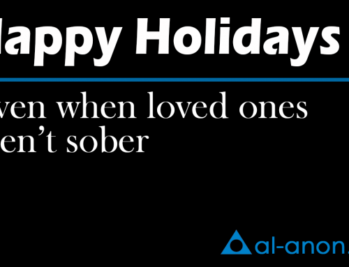 You can have happy holidays even when your loved one is drinking