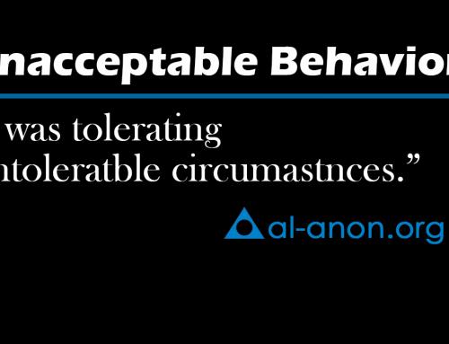 I don't have to tolerate unacceptable behavior