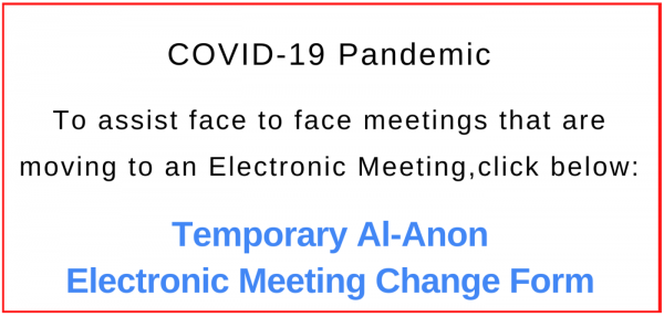 Temporary Al-Anon Electronic Meeting Change Form